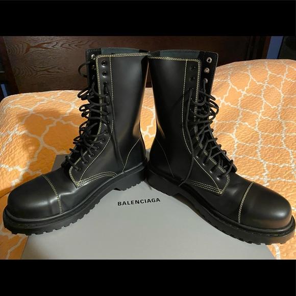 Mens Balenciaga Military Style Boots